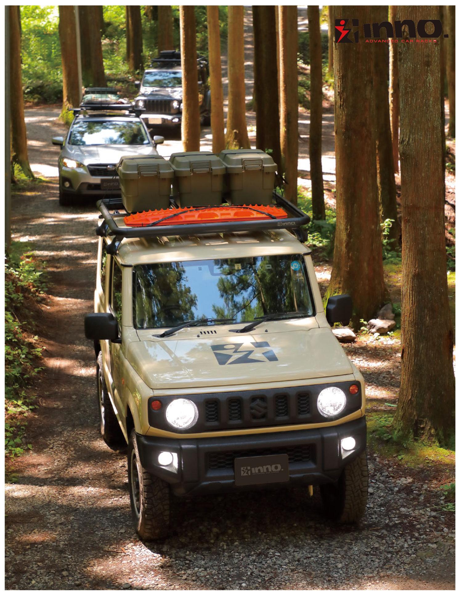 カーメイト イノー ルーフデッキはキャンプの道具を運ぶ時に役立つツールです