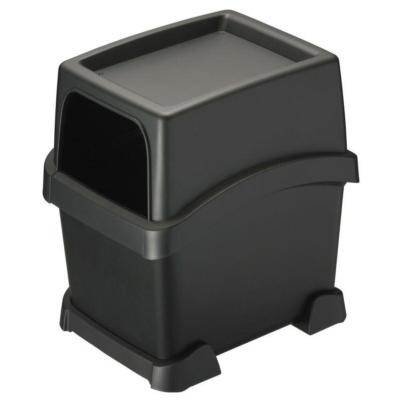 カーメイト DZ573 サポーター付ゴミ箱 トレイ付き ブラック carmate